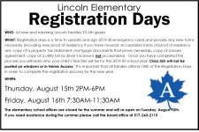 Lincoln Registration Days
